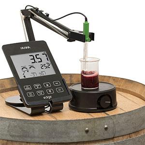 边缘仪测量葡萄酒样品的pH值