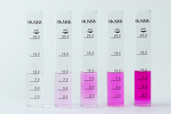 Phenolphthalein color changes