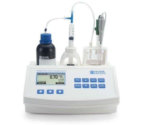 Mini titrator for Titratable Acidity