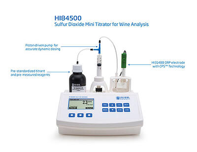 HI84500: Free and Total SO2 Mini Titrator for a Wine Lab