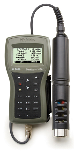 Multiparameter pH/ISE/EC/DO/Turbidity Waterproof Meter with GPS option