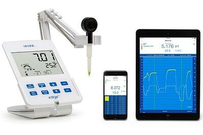 Using Bluetooth to measure pH of foods