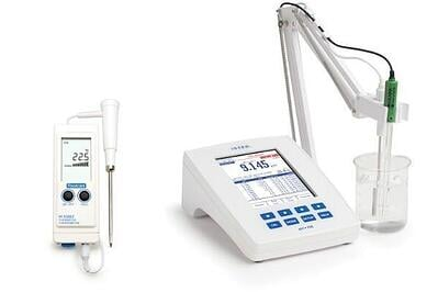 Portable and Benchtop meters for measuring pH in food
