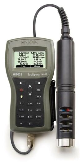 HI9829多参数pH / ISE / EC / DO /浊度防水仪表,带GPS选项
