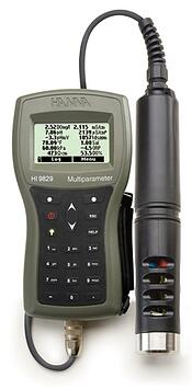 HI9829 Multiparameter pH/ISE/EC/DO/Turbidity Waterproof Meter with GPS option