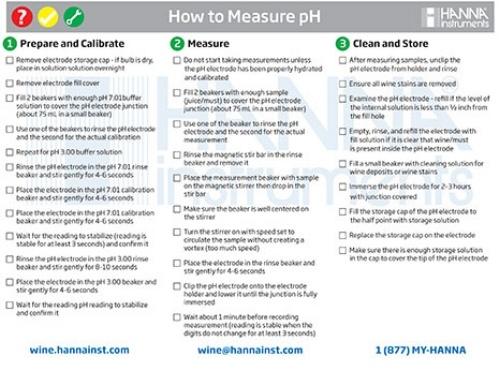Measuring pH in Wine Checklist - Hanna Instruments