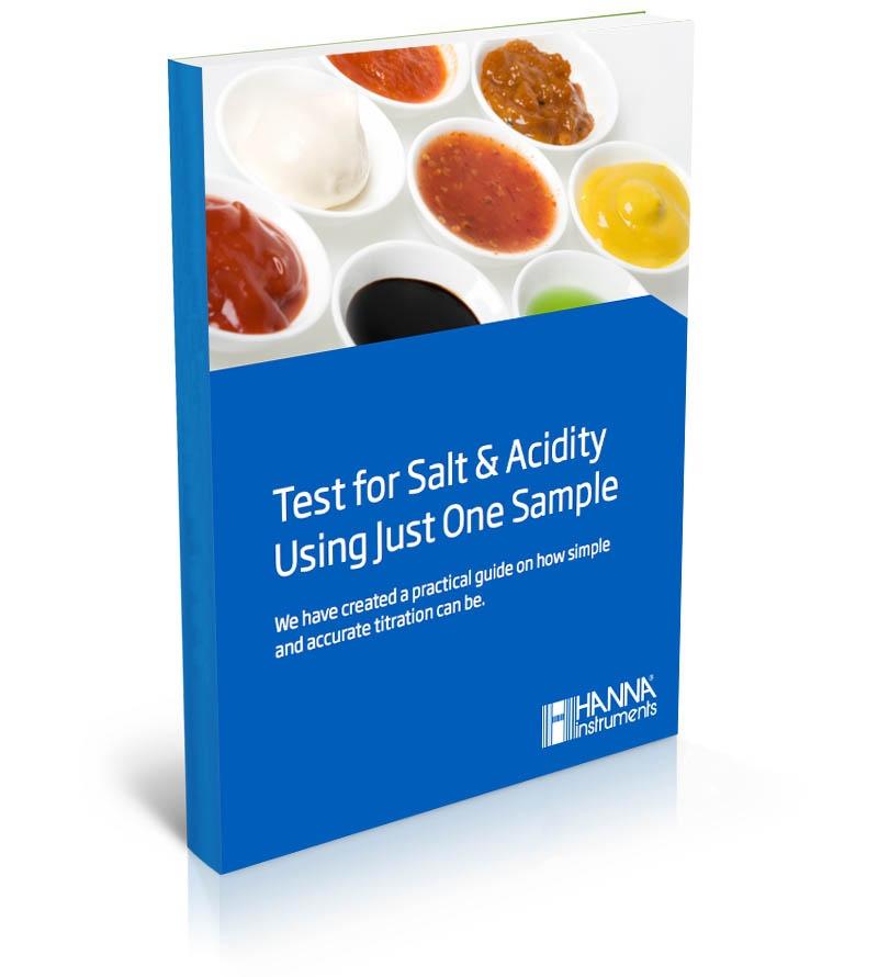 Testing for salt acidity using just one sample ebook - Hanna Instruments