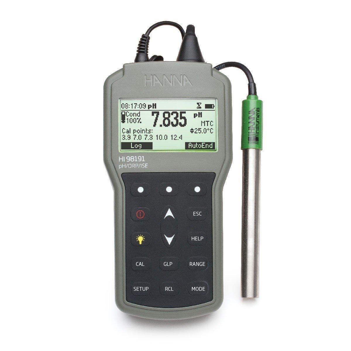 专业防水便携式pH / ORP / ISE仪表 -  HI98191