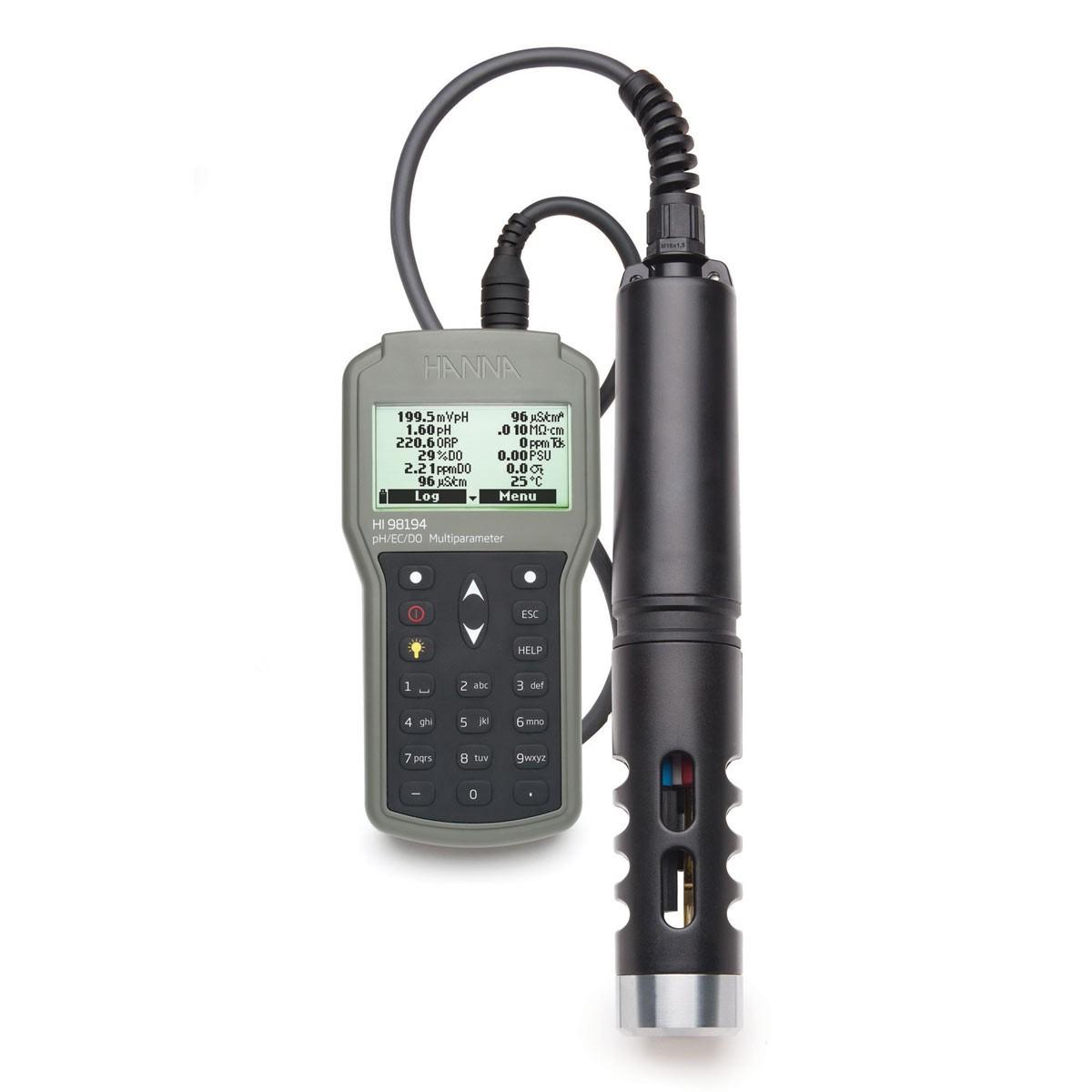 Multiparameter pH/ORP/EC/TDS/Salinity/DO/Pressure/ Temperature Waterproof Meter - HI98194