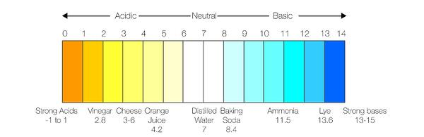 Graph: pH scale